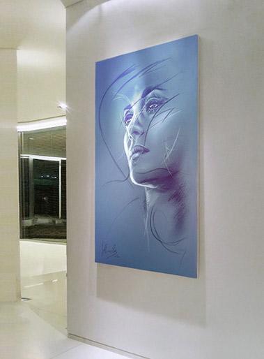 Out of Sight - Blue Velvet Series - Quodartis - The Art of Heinek - Art at your home